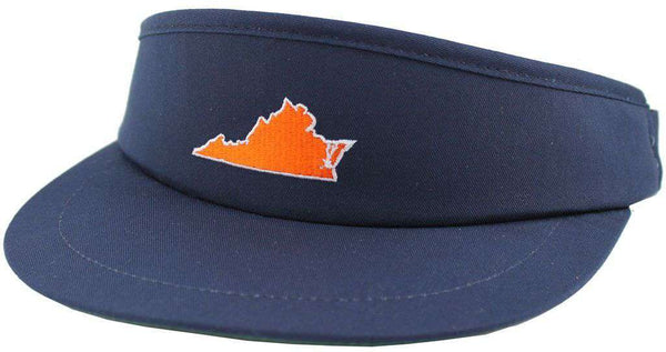Hats/Visors - VA Charlottesville Gameday Golf Visor In Navy By State Traditions