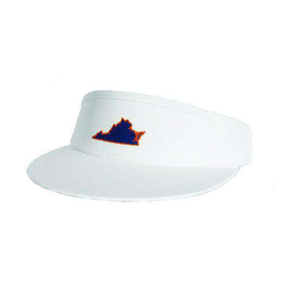 VA Charlottesville Gameday Golf Visor in White by State Traditions - Country Club Prep