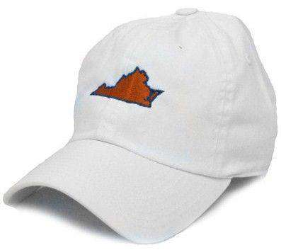 Hats/Visors - VA Charlottesville Gameday Hat In White By State Traditions