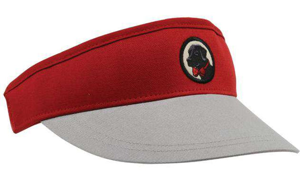 Visor in Crimson and Grey by Southern Proper