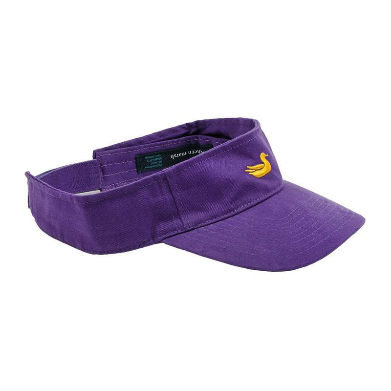 Hats/Visors - Visor In Purple With Yellow Duck By Southern Marsh