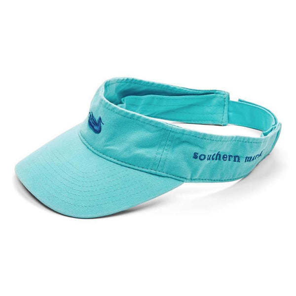 Washed Visor in Antigua Blue with Slate Duck by Southern Marsh