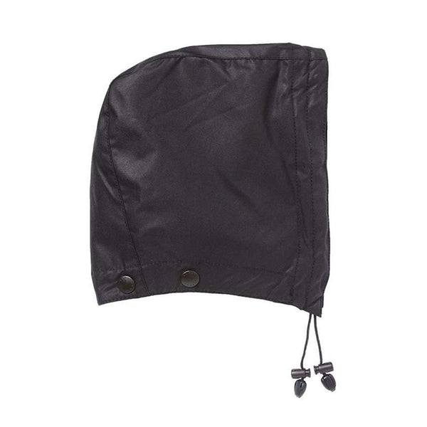 Waxed Cotton Hood in Black by Barbour - FINAL SALE