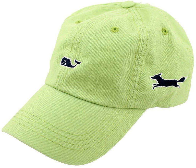 Whale Logo Baseball Hat in Cactus Green by Vineyard Vines, Also Featuring Longshanks the Fox - Country Club Prep