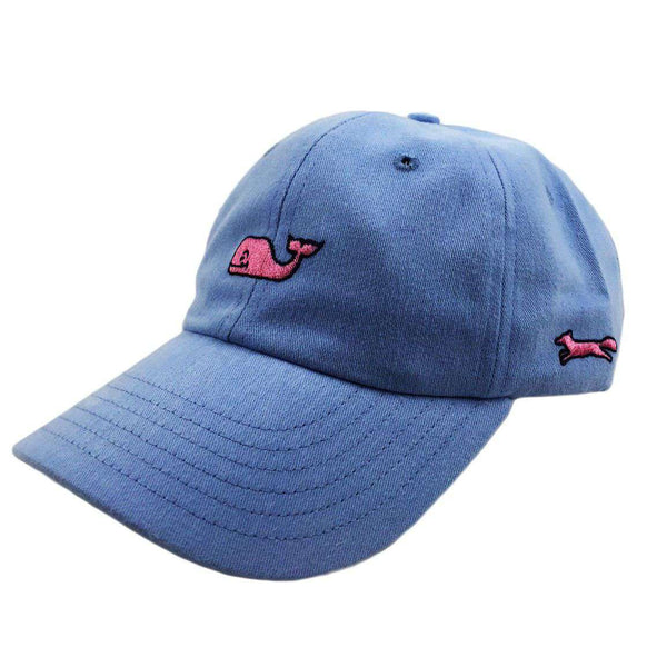 Hats/Visors - Whale Logo Baseball Hat In Light Blue W/ Pink Longshanks By Vineyard Vines