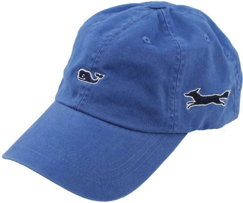 Hats/Visors - Whale Logo Baseball Hat In Royal Blue By Vineyard Vines, Also Featuring Longshanks The Fox