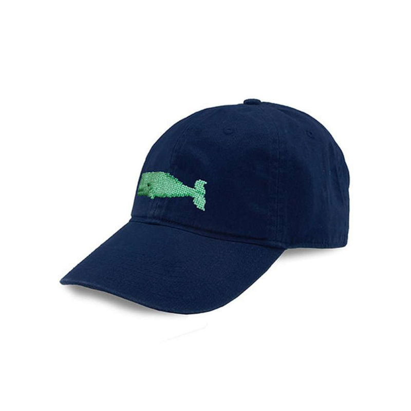 Hats/Visors - Whale Needlepoint Hat In Navy By Smathers & Branson