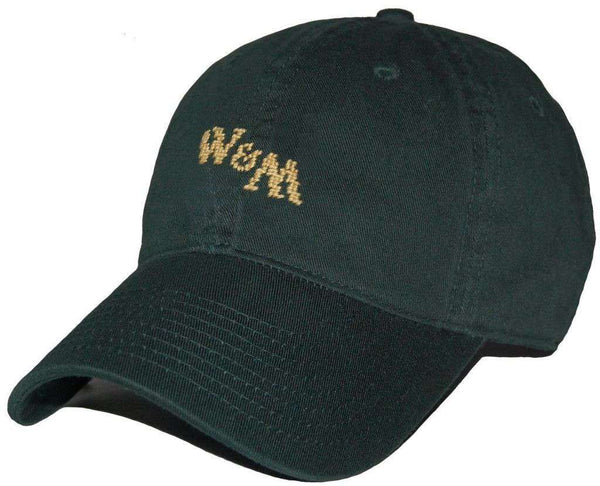 William & Mary Needlepoint Hat in Green by Smathers & Branson