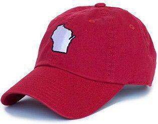 Wisconsin Madison Gameday Hat in Red by State Traditions - Country Club Prep
