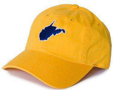 Hats/Visors - WV Morgantown Gameday Hat In Gold By State Traditions