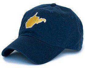 WV Morgantown Gameday Hat in Navy by State Traditions