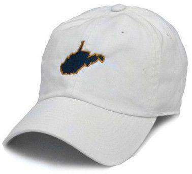 Hats/Visors - WV Morgantown Gameday Hat In White By State Traditions