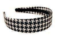 Black Houndstooth Headband by High Cotton