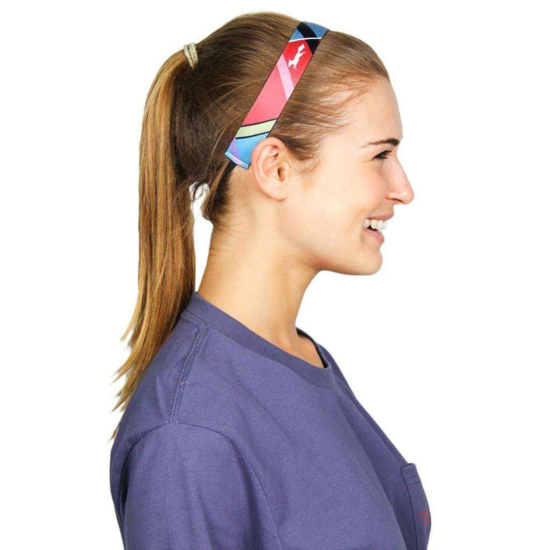 Country Club Prep Exclusive Madras Headband by Sweaty Bands - Country Club Prep