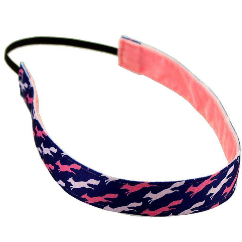 Headbands - Country Club Prep Exclusive Pink Longshanks Headband By Sweaty Bands - FINAL SALE