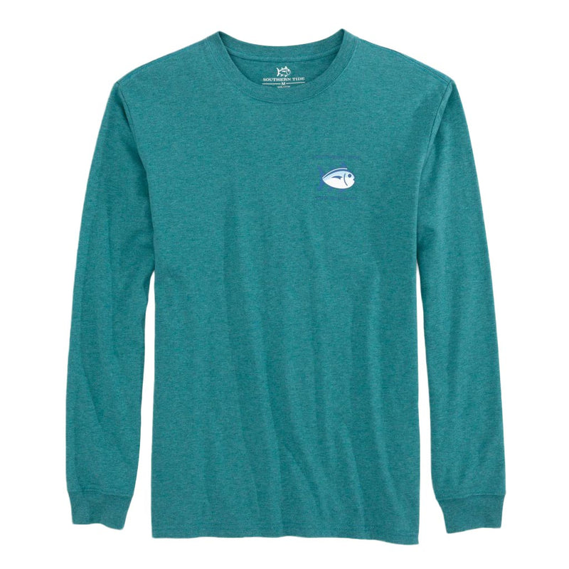 Long Sleeve Heathered Original Skipjack T-Shirt by Southern Tide