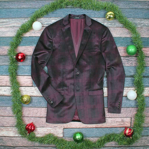 Country Club Prep The Dasher Holiday Check Blazer by Country Club Prep