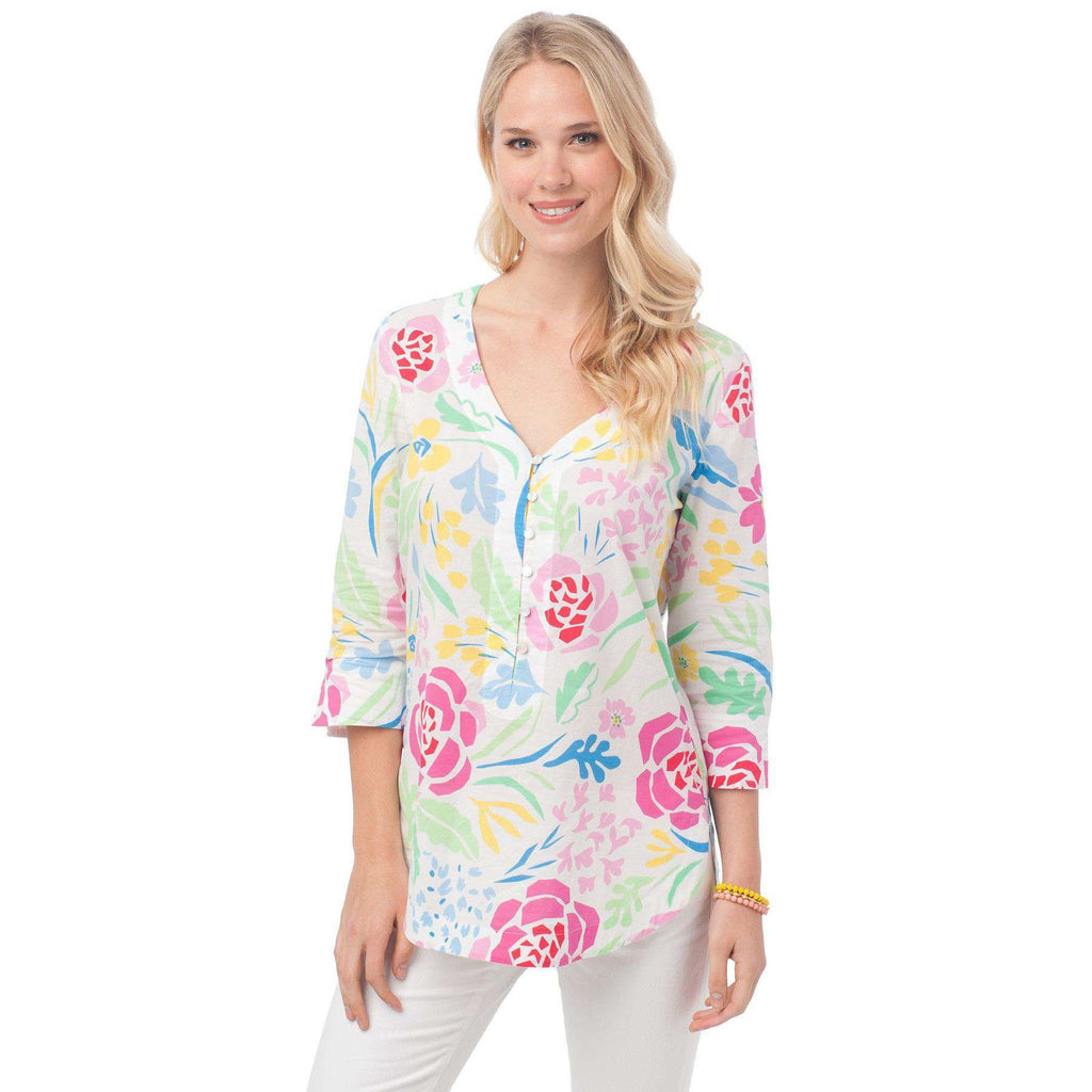 Isla Tunic in Kiawah Floral by Southern Tide  - 1