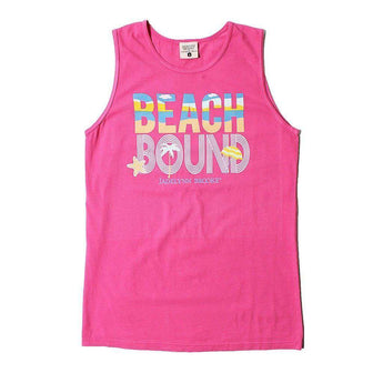 Beach Bound Tank in Hot Pink by Jadelynn Brooke - Country Club Prep