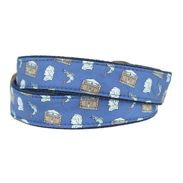 Charlottesville Custom Belt in Navy by Country Club Prep