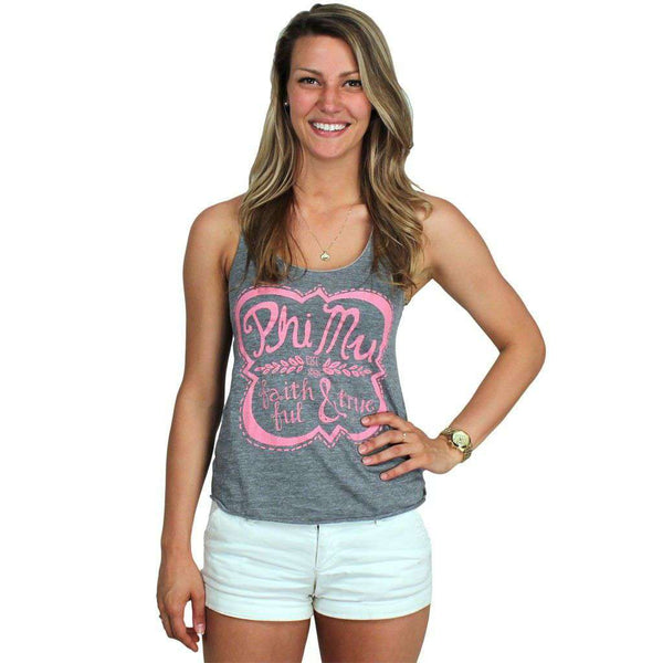 Faithful and True Tank Top in Grey by Judith March