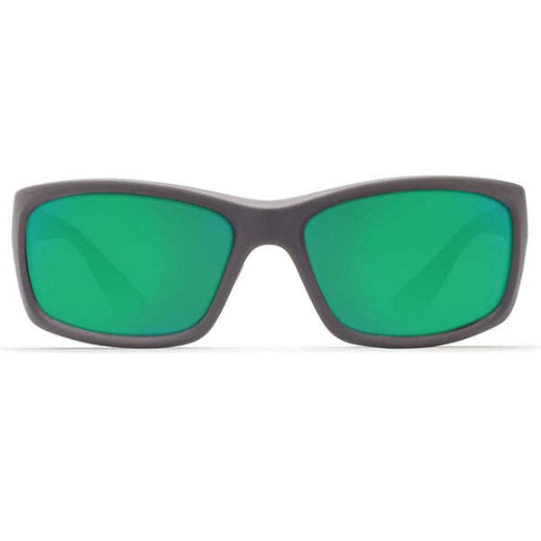 Jose Sunglasses in Matte Gray with Green Mirror Polarized Glass Lenses by Costa del Mar