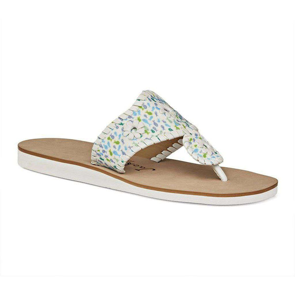 Jack Rogers Captiva Sandal in Multi & White