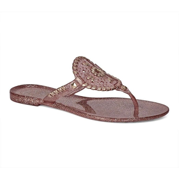 Jack Rogers Sparkle Georgica Jelly Sandal in Rose Gold