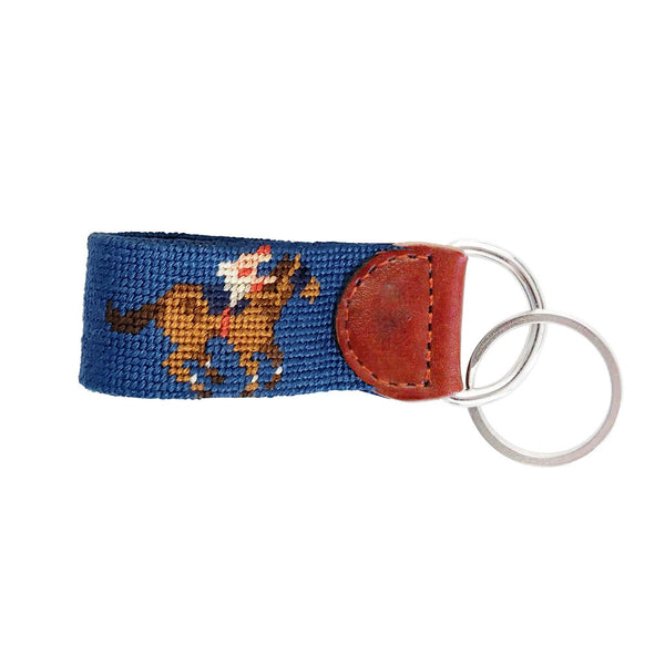Mint Julep & Race Horse Needlepoint Key Fob by Smathers & Branson