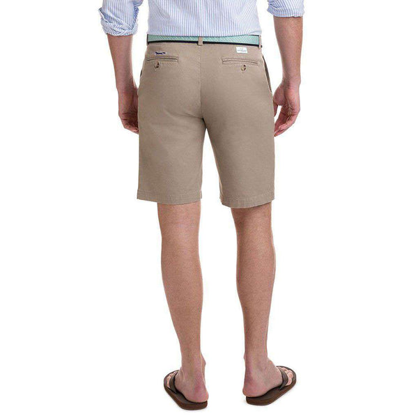 9 Inch Stretch Breaker Shorts in Khaki by Vineyard Vines