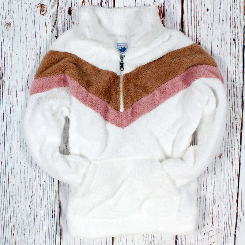 Country Club Prep White Brown and Pink / XS