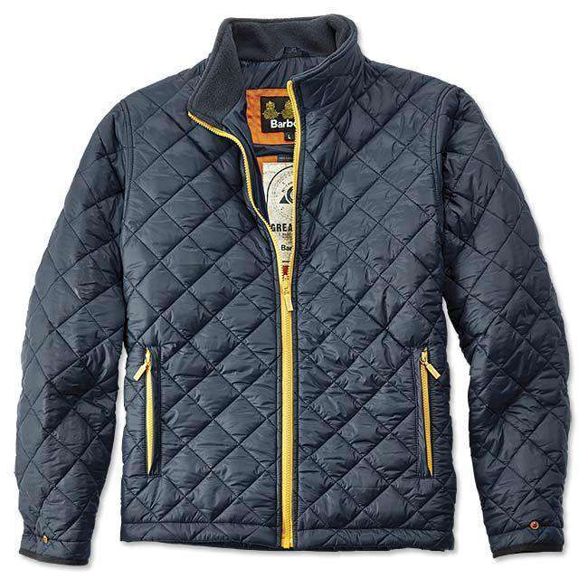 Kellen Quilted Jacket in Navy by Barbour  - 1