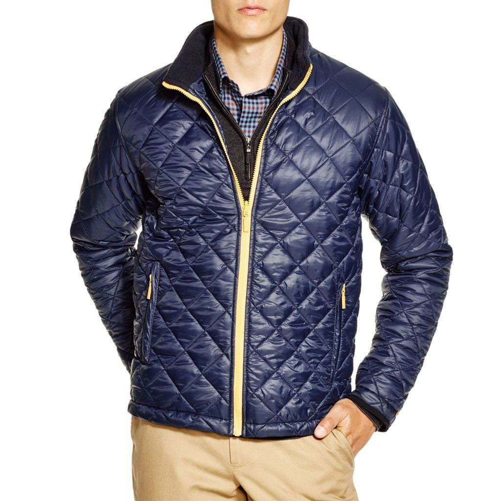 Kellen Quilted Jacket in Navy by Barbour  - 2