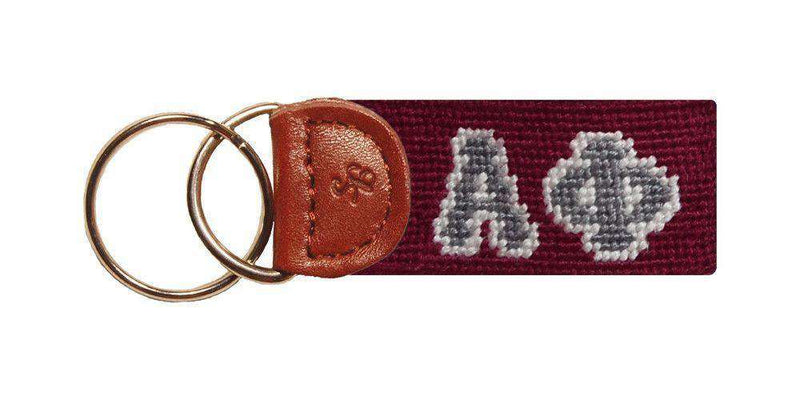 Key Fobs - Alpha Phi Needlepoint Key Fob By Smathers & Branson