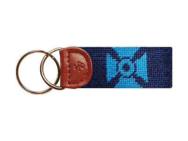 Alpha Tau Omega Needlepoint Key Fob in Navy by Smathers & Branson
