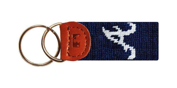 Atlanta Braves Needlepoint Key Fob in Navy by Smathers & Branson