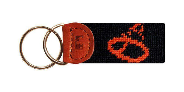 Key Fobs - Baltimore Orioles Needlepoint Key Fob In Black By Smathers & Branson