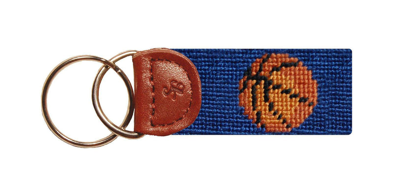 Key Fobs - Basketball Needlepoint Key Fob In Blue By Smathers & Branson