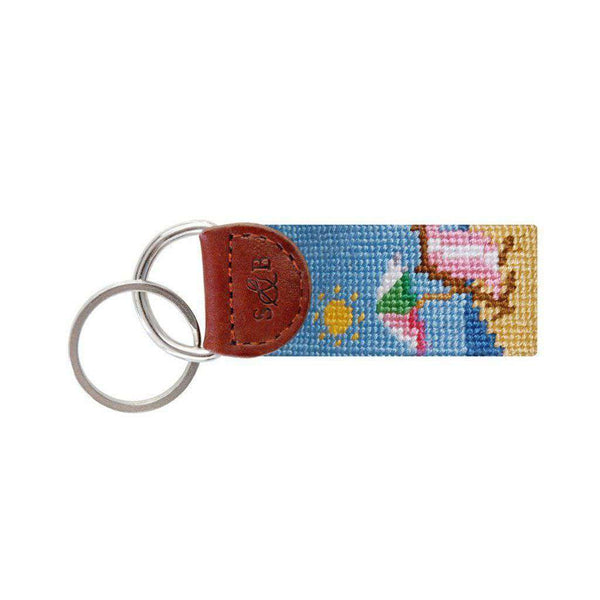 Beach Scene Needlepoint Key Fob by Smathers & Branson