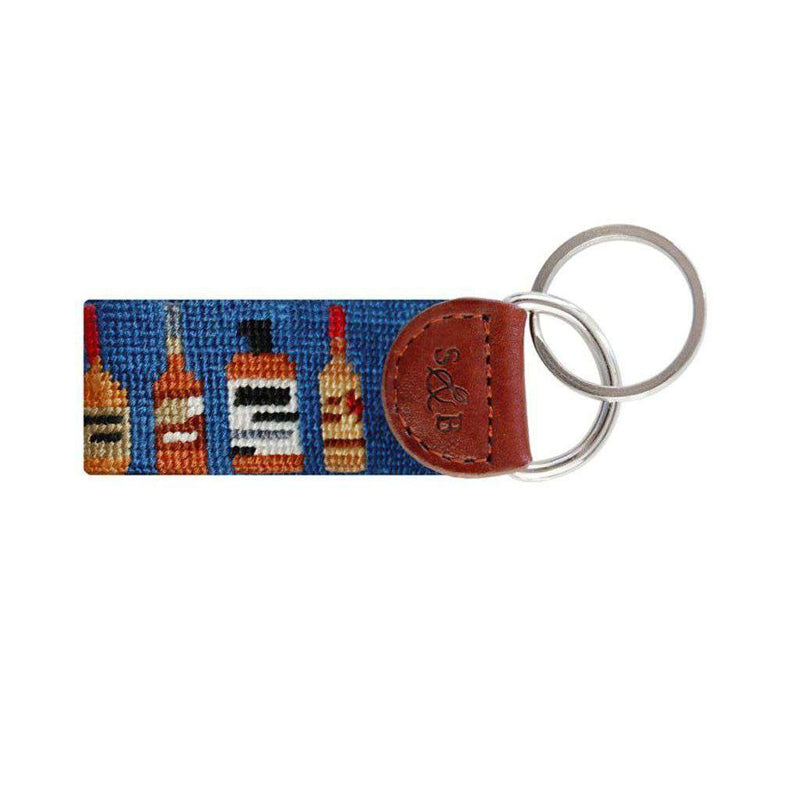 Key Fobs - Bourbon Needlepoint Key Fob In Blue By Smathers & Branson