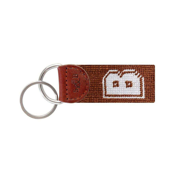 Brown Needlepoint Key Fob in Brown by Smathers & Branson