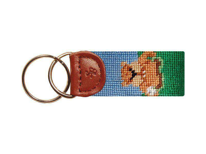 Key Fobs - Caddyshack Needlepoint Key Fob In Green By Smathers & Branson