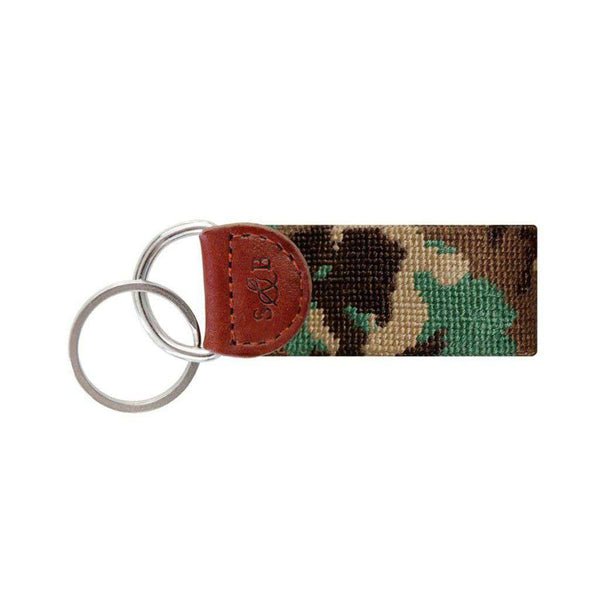 Key Fobs - Camo Needlepoint Key Fob By Smathers & Branson