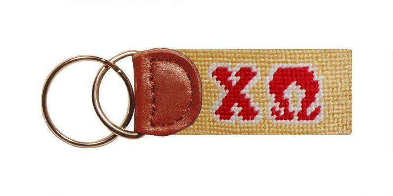Key Fobs - Chi Omega Needlepoint Key Fob By Smathers & Branson