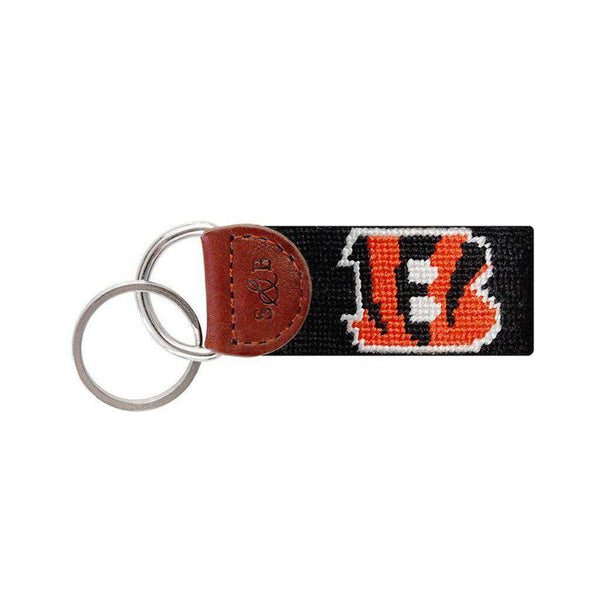 Key Fobs - Cincinnati Bengals Needlepoint Key Fob By Smathers & Branson