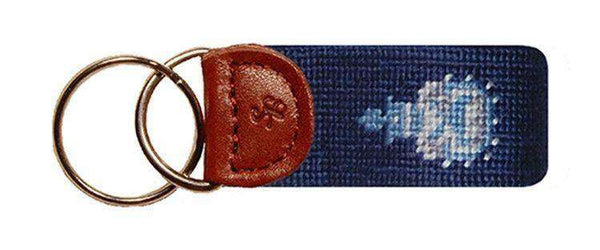 Citadel Needlepoint Key Fob in Navy by Smathers & Branson