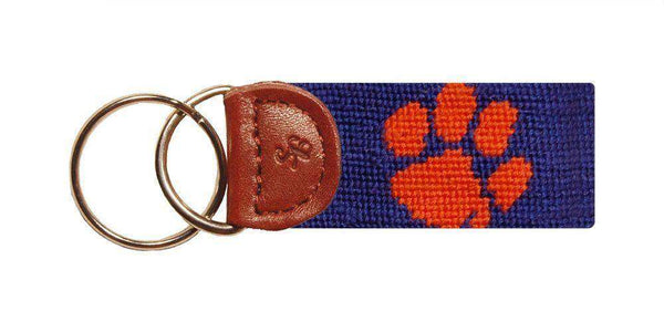 Clemson University Needlepoint Key Fob by Smathers & Branson