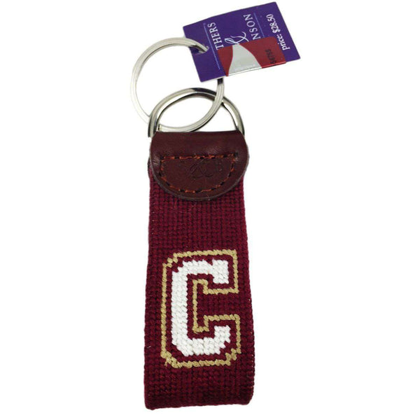 College of Charleston Needlepoint Key Fob in Red by Smathers & Branson