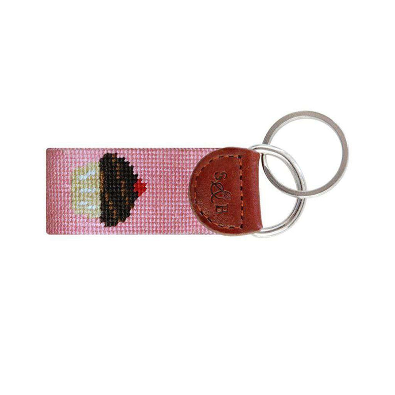 Cupcake Needlepoint Key Fob by Smathers & Branson