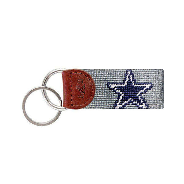 Dallas Cowboys Needlepoint Key Fob by Smathers & Branson